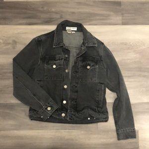 American Apparel Washed Black Denim Jacket